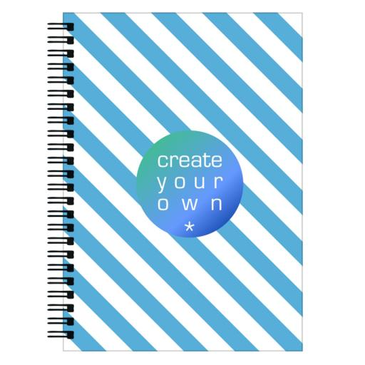 NoteBook - Wiro Bound - Front and Back Page Printed - 148cm x 210cm