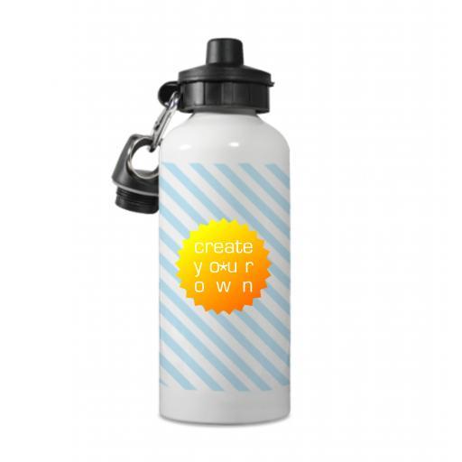 Sports Bottle - White - Aluminium - 600ml