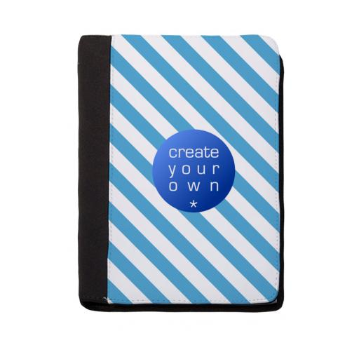 Note Pad - Black Polyester - With Writing Pad - 24cm x 32cm.