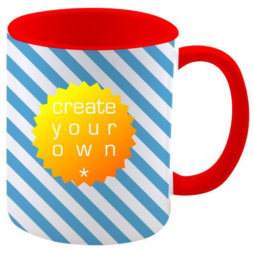 11oz Ceramic Mug Two Tone Red