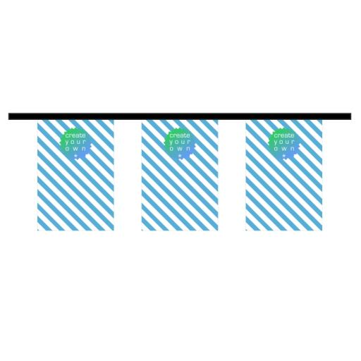 Bunting - Rectangle - 10 metre length - 18 textile pennants per length - 115g knitted polyester